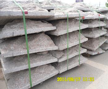 五莲红蘑菇石外墙干挂石材