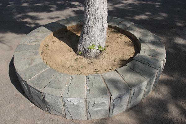 大理石树围石